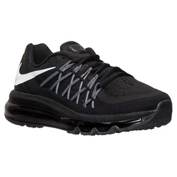 8765f2c10dbd3 Nike Junior Air Max 2015 (Gs) - Black White. M 5ba7fee65c4452edbb805b77